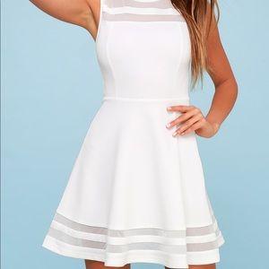 """LULUS """"Stretch Ivory Dress"""""""